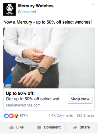 Facebook Watch Ad Example