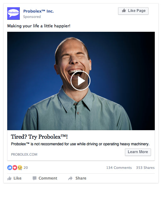 Facebook Video Ad Example - Probolex