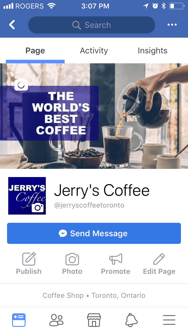 On Facebook's mobile app, cover photos display narrower in width, but taller.