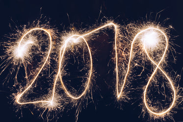2018 new year sparkler writing