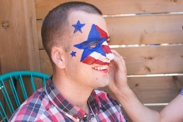 4th of july face painting