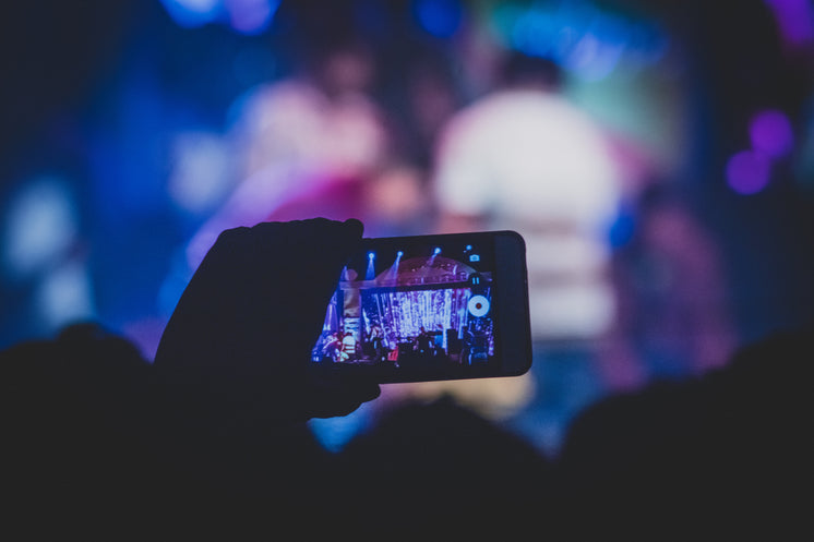A Concert Seen Through An Audience Member's Mobile Phone