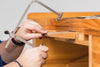 a coping saw and work bench