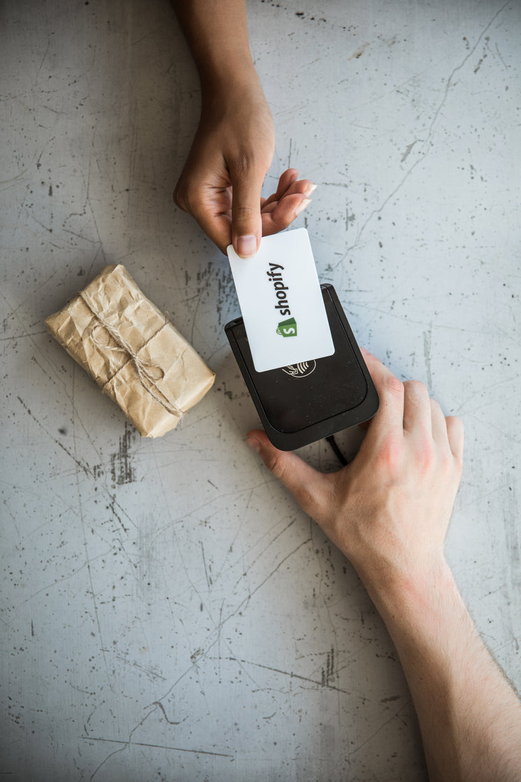 A Credit Card Transaction Over A Card Reader