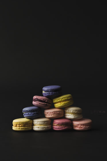 Browse Free HD Images of A Dark And Moody Macaron Pyramid