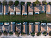 a drones overhead view of an urban sprawl in florida