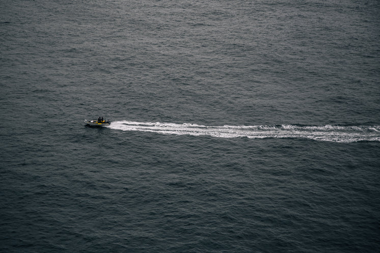A Safety Dinghy Patrols Icy Waters