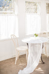 a small wedding table for two