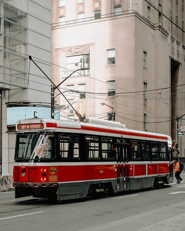 a trolleybus not in service