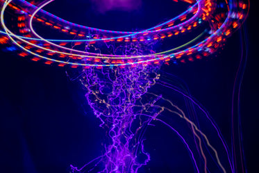 abstract purple light and lines