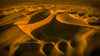 Abstract View Of Soft Yellow Sand Dunes