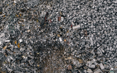 aerial view of metal recycling facility