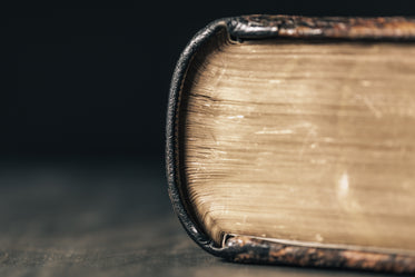 aged leather-bound book with yellowing pages