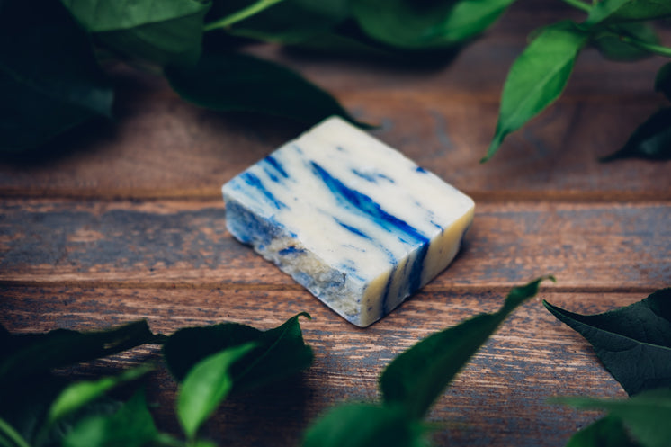 All Natural Soap Bar With Blue