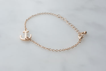 Picture of Anchor Bracelet Gold - Free Stock Photo