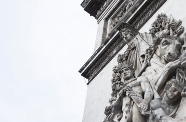 angry stone statues