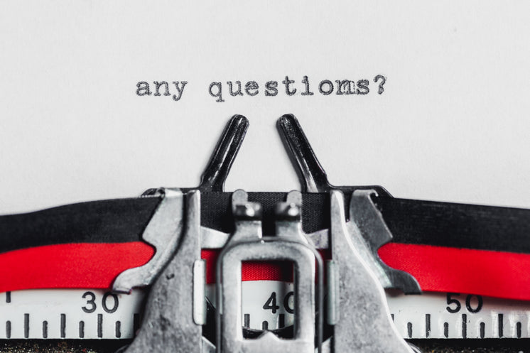 Any Questions On A Typewriter Machine