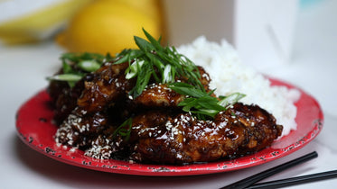asian chicken with rice