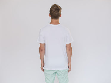 Picture of Back Of Mens White Shirt - Free Stock Photo