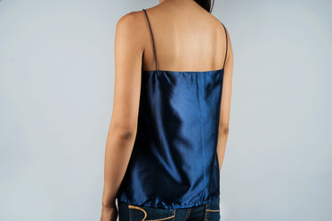 back satin blouse