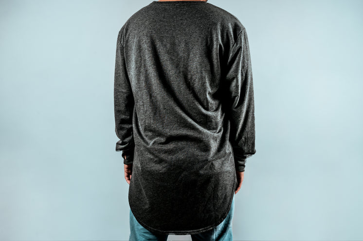 Back View Mens Grey Long Sleeve