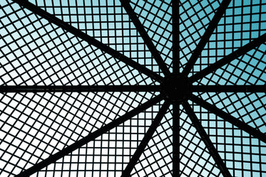 backlit wire roof