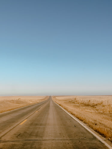 barren country road