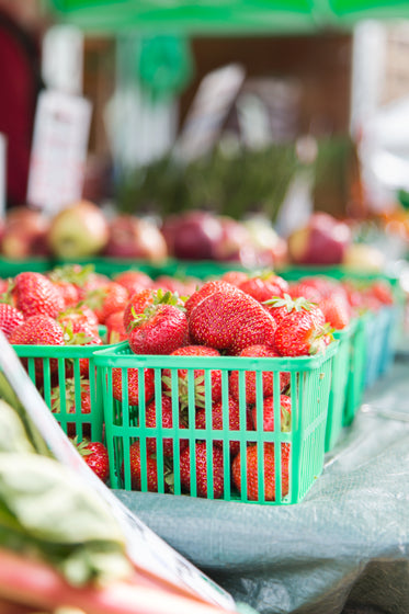 Picture of Basket Of Strawberries - Free Stock Photo