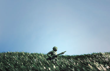 battling soldier toys in grass