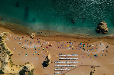 beach view by drone