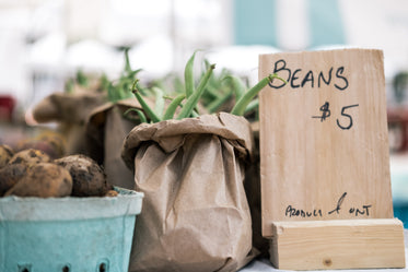 beans at farmers market