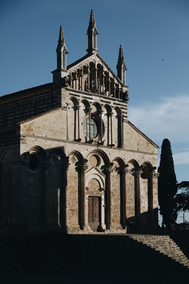 beautiful stone cathedral and church
