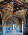 beautifully designed colorful arch