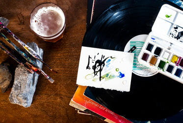 beer records and painting