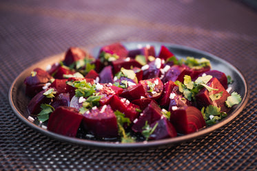beetroot salad on the plate