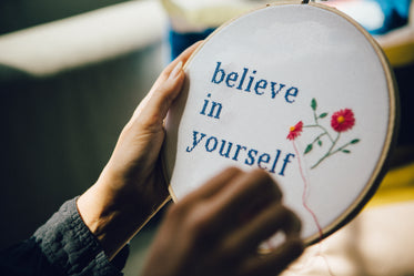believe in yourself embroidery