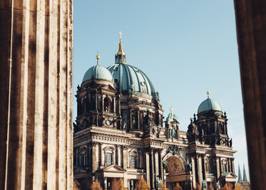 berlin cathedral through columns
