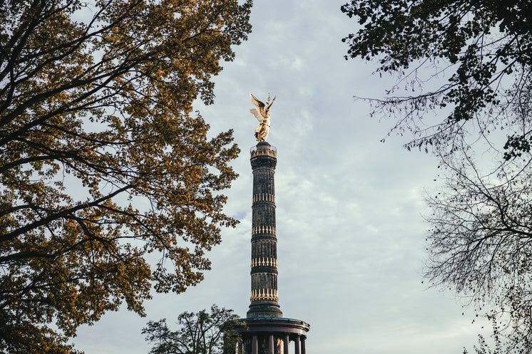 Berlin Victory Column Through Trees