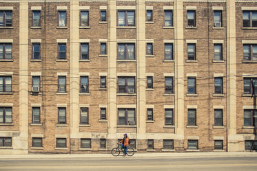 bicycle outside apartment building