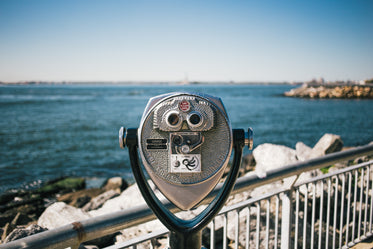 binoculars looking at ocean