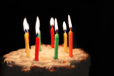 picture of birthday candles lit free stock photo