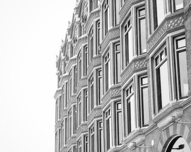 black and white classic architecture