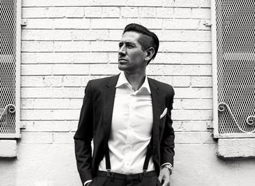 black and white image of mens formal fashion