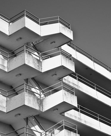 black and white stair architecture