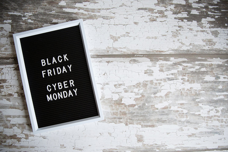 Black Friday Cyber Monday Sign On Woodgrain