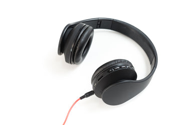 cool black headphones
