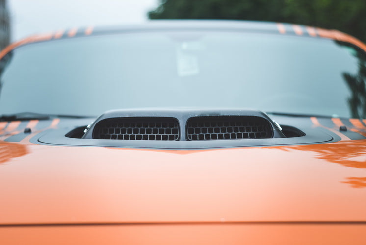 Black Intake On Orange Sportscar