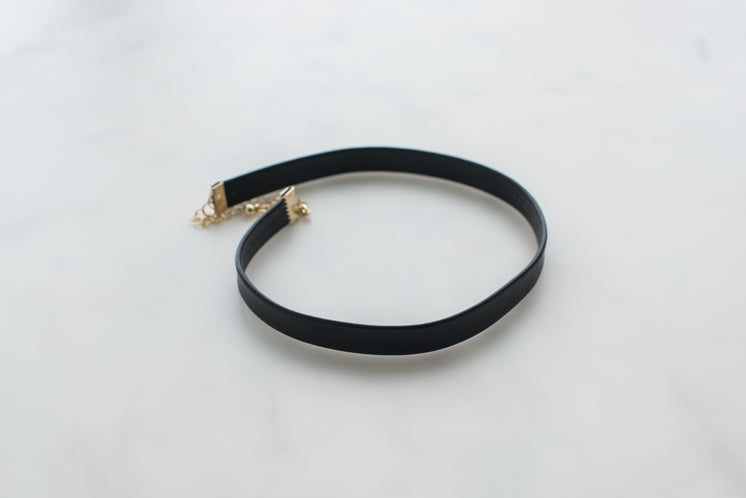 Thick Black Leather Choker Necklace