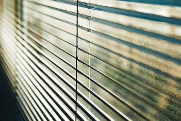 blinds and dusty window