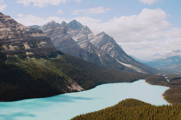 blue lake and rocky mountains